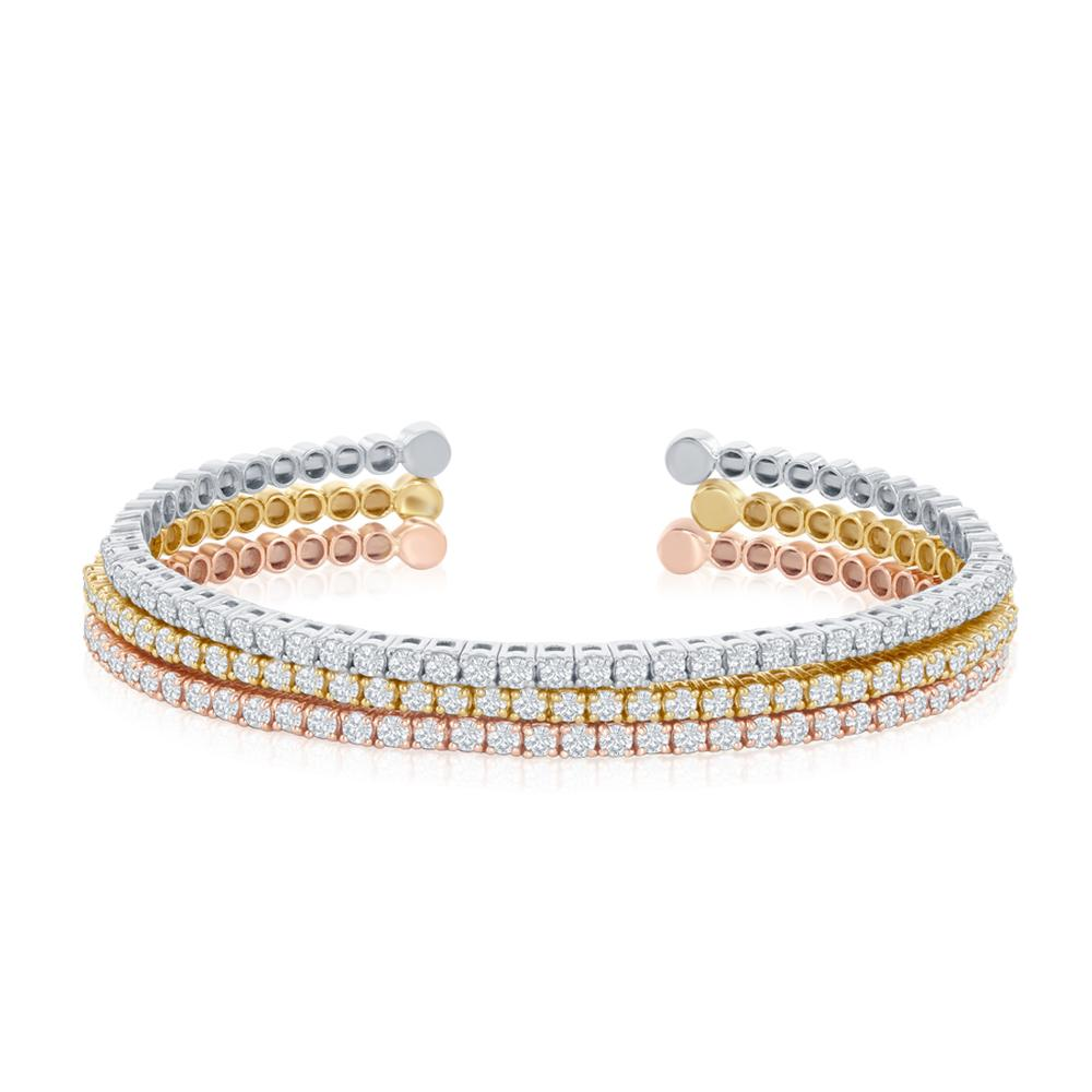 meshmerise set image vermeil k tricolor shop bangle product gold of nordstrom bangles